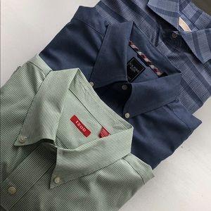 Men's button down long sleeve shirts.